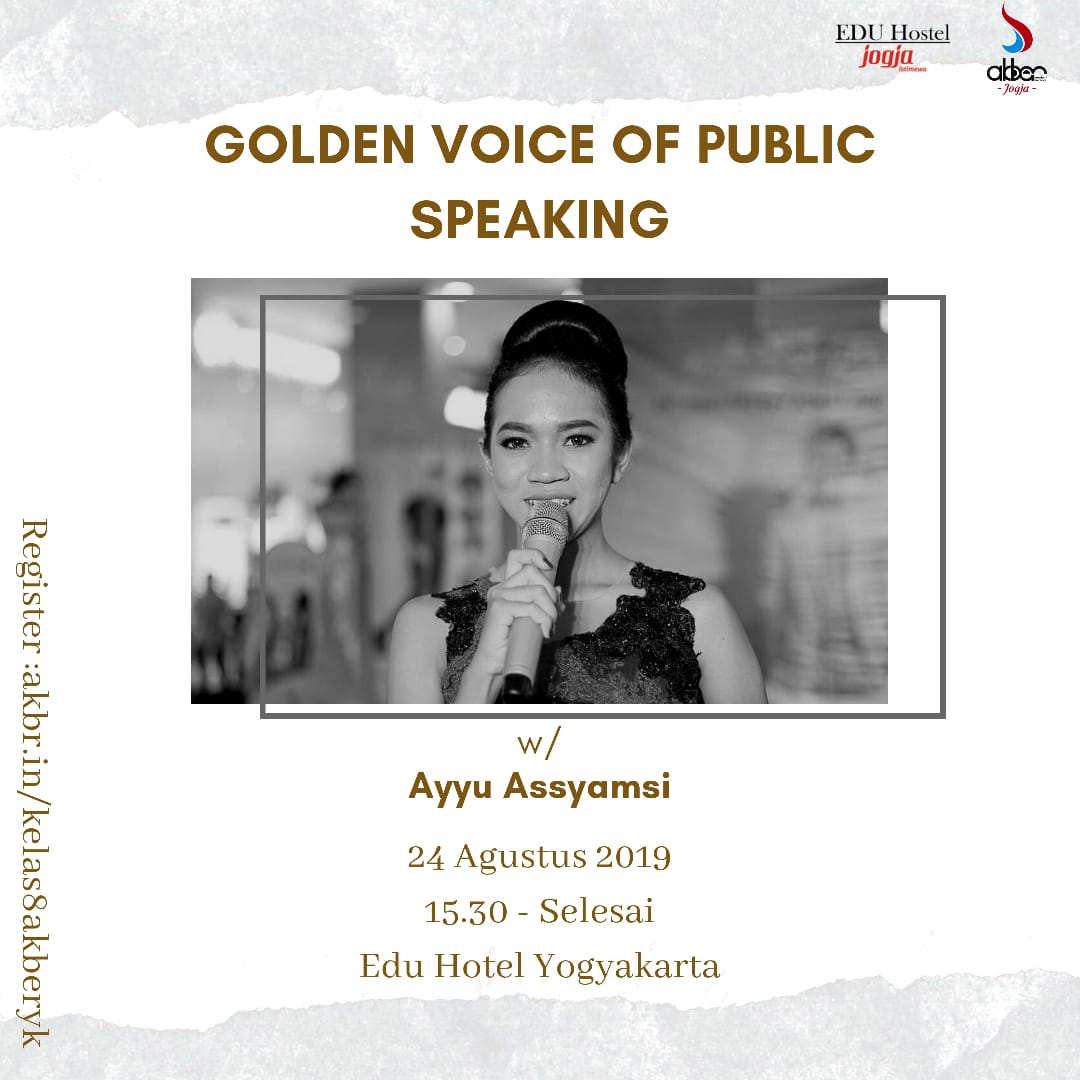 Jogja: Golden Voice Of Public Speaking